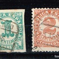 Sellos: ESPAÑA 1933 - EDIFIL 677/78 - CIFRAS. Lote 223691957