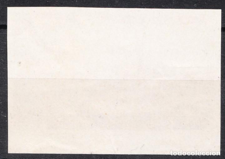 Sellos: 1938 CORREO SUBMARINO VARIEDAD CAMBIO DE COLOR 1 PESETA SIN FIJASELLOS - Foto 2 - 223698977