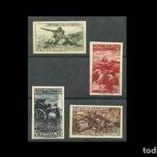 Sellos: ESPAÑA-1939 - II REPUBLICA - EDIFIL NE55A/NE 55D-F - SERIE COMPLETA -(*)- NUEVOS - + CPA CERT. COMEX. Lote 224239081