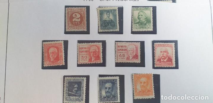 EDIFIL 731-740 CIFRA Y PERSONAJES 1936-1938 (SERIE COMPLETA). VALOR CATÁLOGO: 42 €. ** (Sellos - España - II República de 1.931 a 1.939 - Nuevos)