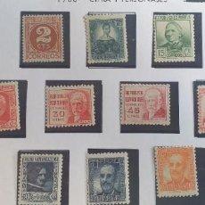 Sellos: EDIFIL 731-740 CIFRA Y PERSONAJES 1936-1938 (SERIE COMPLETA). VALOR CATÁLOGO: 42 €. **. Lote 224676850