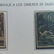 Sellos: ESPAÑA- 1938 -EDIFIL : 773- 774 - OBREROS DE SAGUNTO ** LUJO. Lote 224741905