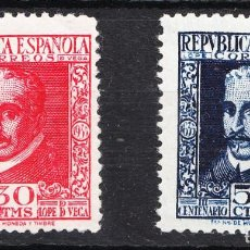 Sellos: 1935 REPÚBLICA ESPAÑOLA LOPE DE VEGA EDIFIL 691/2. Lote 225844775