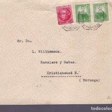 Selos: HP4-4- CARTA LA CORUÑA- NORUEGA 1935. AMBULANTE 3 CORUÑA- LEÓN. Lote 226473585