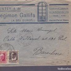 Selos: HP4-4- CARTA FUSTERIA SEGIMON GALLIFA SEO DE URGEL (LÉRIDA) 1935. Lote 226477375