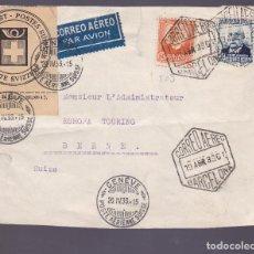 Timbres: HP4-5- FRONTAL BARCELONA SUIZA 1933 . ETIQUETA RESTAURACIÓN CORTE CORREOS SUIZA. Lote 226485872