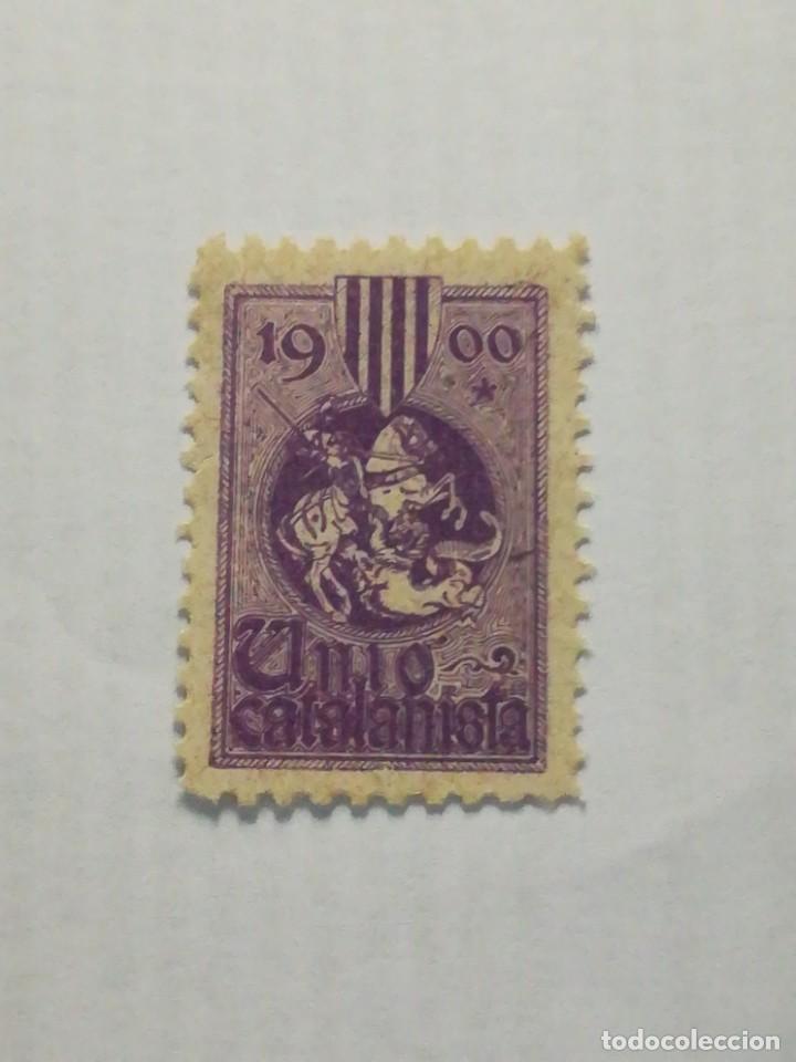 ANTIGUO SELLO ESPAÑA 1900 UN CATALANISTA, SAN JORGE, SIN GOMA (Sellos - España - II República de 1.931 a 1.939 - Nuevos)