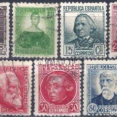 Sellos: EDIFIL 681-688 PERSONAJES 1933-1935 (SERIE COMPLETA) (VARIEDADES 686T Y 688IP).. Lote 227020827
