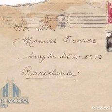 Francobolli: F29-1- CARTA HOTEL NACIONAL MADRID 1936 CON 2 VIÑETAS FOTOGRÁFICAS DEL HOTEL. Lote 227118326