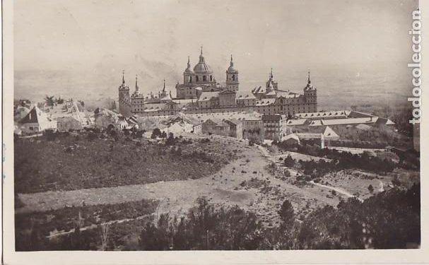 F29-2- POSTAL SAN LORENZO DEL ESCORIAL (MADRID) 1935. VIÑETA LOPE VEGA. SOC AUTORES DRAMÁTICOS (Sellos - España - II República de 1.931 a 1.939 - Cartas)