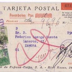Timbres: F29-3- TARJETA REEMBOLSO A ZAMORA. RUHUSADO 1936. Lote 227139989