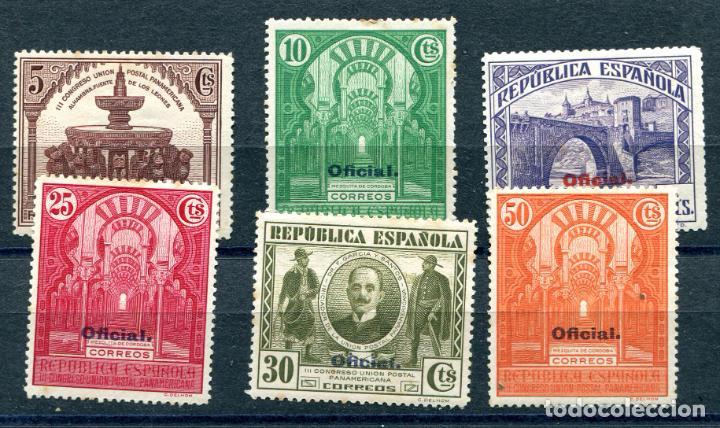 EDIFIL 620 AL 624 Y 626. 6 SELLOS CONGRESO UNIÓN POSTAL PANAMERICANA, OFICIAL. VER DESCRIPCIÓN (Sellos - España - II República de 1.931 a 1.939 - Nuevos)