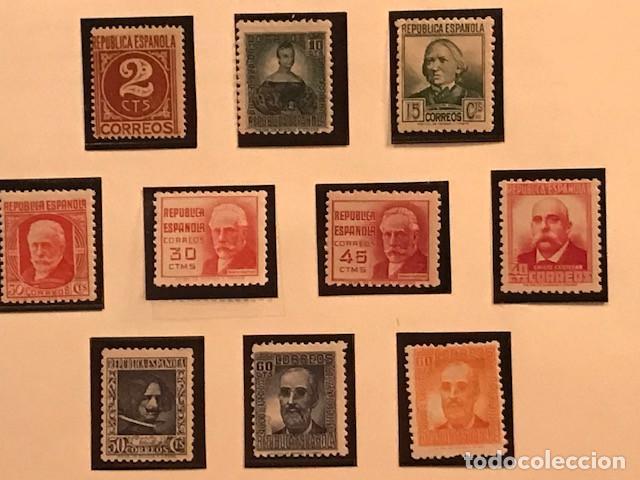 EDIFIL 731 740 MNH SELLOS ESPAÑA 1936 CIFRAS Y PERSONAJES EXCELENTE CENTRADO GOMA ORIGINAL ALIMAD (Sellos - España - II República de 1.931 a 1.939 - Nuevos)