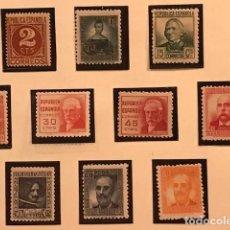 Sellos: EDIFIL 731 740 MNH SELLOS ESPAÑA 1936 CIFRAS Y PERSONAJES EXCELENTE CENTRADO GOMA ORIGINAL. Lote 248554520