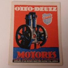 Sellos: OTTO DEUTZ. MOTORES. COMPAÑÍA MOTORES DEUTZ OTTO LEGITIMO. LTDA. MADRID. VIÑETA COMERCIAL ANTIGUA. Lote 229198585