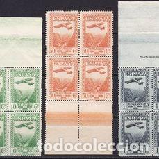 Sellos: Edifil 650 654 MNH ** bloque de 4 sellos España 1931 serie completa Fundacion Monasterio Montserrat - Foto 3 - 230692730