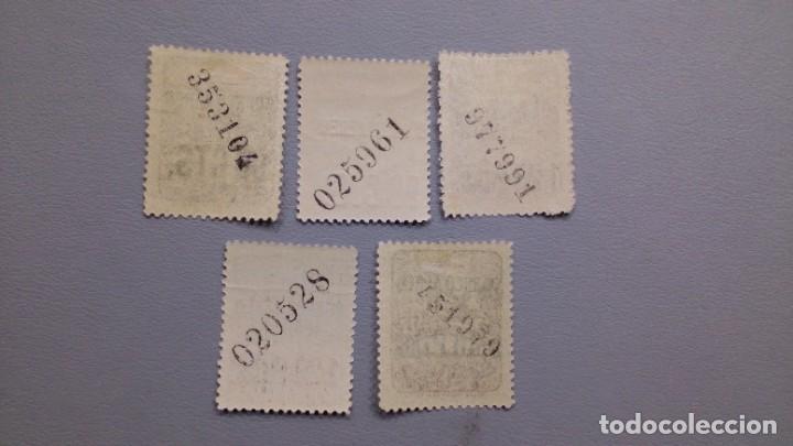 Sellos: ESPAÑA- 1937 - II REPIBLICA - ASTURIAS Y LEON - EDIFIL NE12/NE16 - SERIE COMPLETA - MNH**/* - NUEVOS - Foto 2 - 231348170