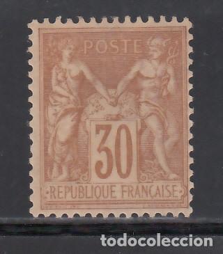 FRANCIA. 1876-78 YVERT Nº 80 (*). SAGE, 30 C BRUN-JAUNE. TIPO II (Sellos - España - II República de 1.931 a 1.939 - Nuevos)