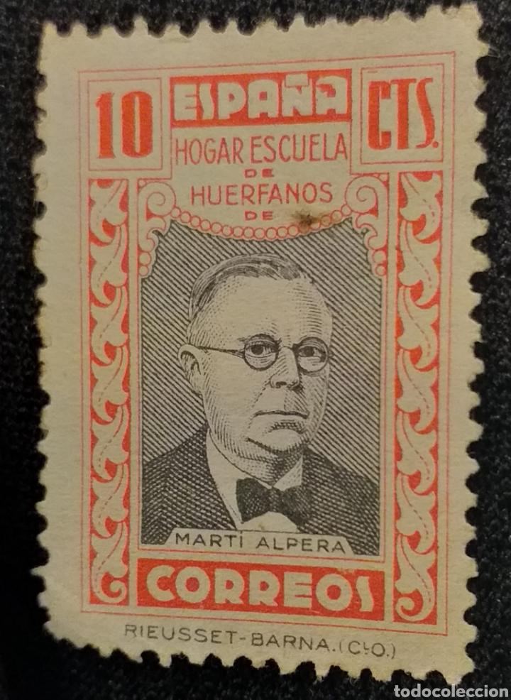 SELLO 10 CENTIMOS MARTIN ALPERA (Sellos - España - II República de 1.931 a 1.939 - Usados)