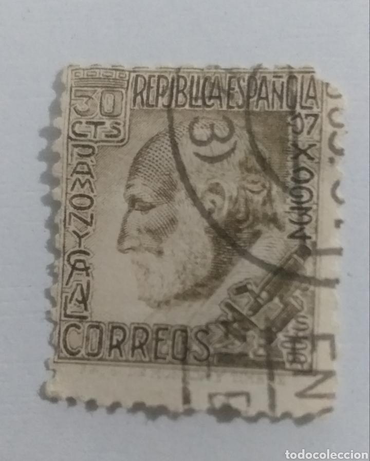 SELLO 1934 SANTIAGO RAMON Y CAJAL (Sellos - España - II República de 1.931 a 1.939 - Usados)
