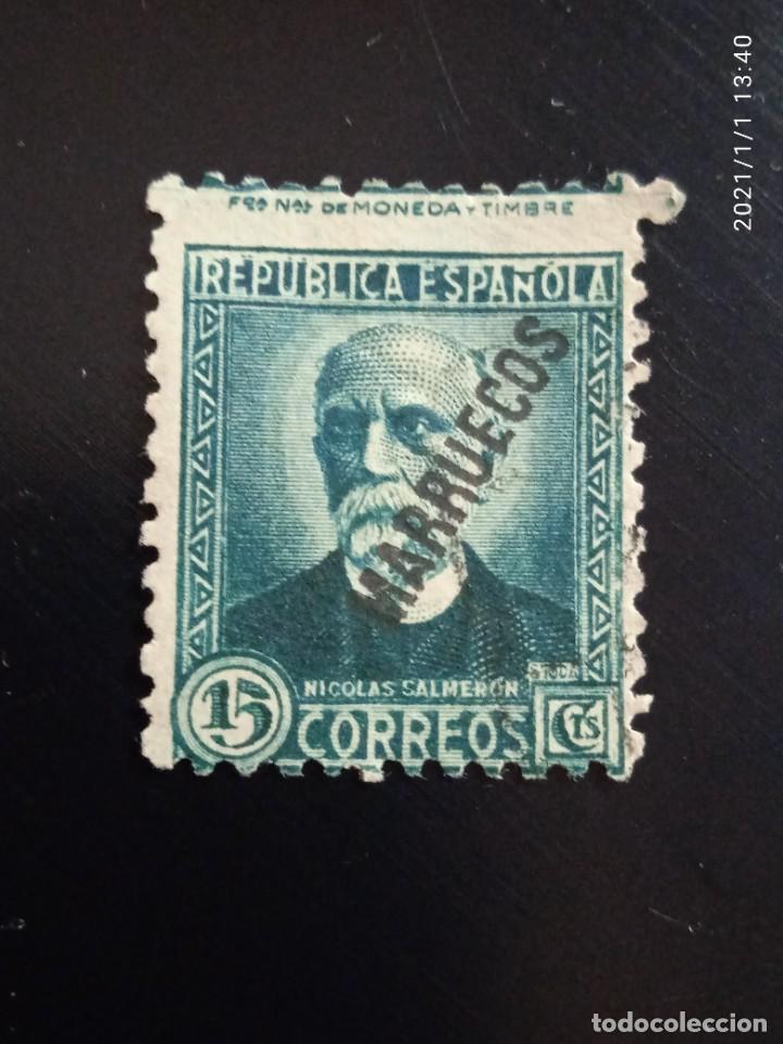 REPUBLICA ESPAÑOLA 15 CTS, N. SALMERON, 1932. (Sellos - España - II República de 1.931 a 1.939 - Usados)