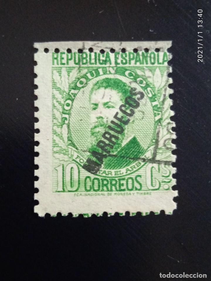 REPUBLICA ESPAÑOLA 10 CTS, JOAQUIN COSTA, 1935.. (Sellos - España - II República de 1.931 a 1.939 - Usados)