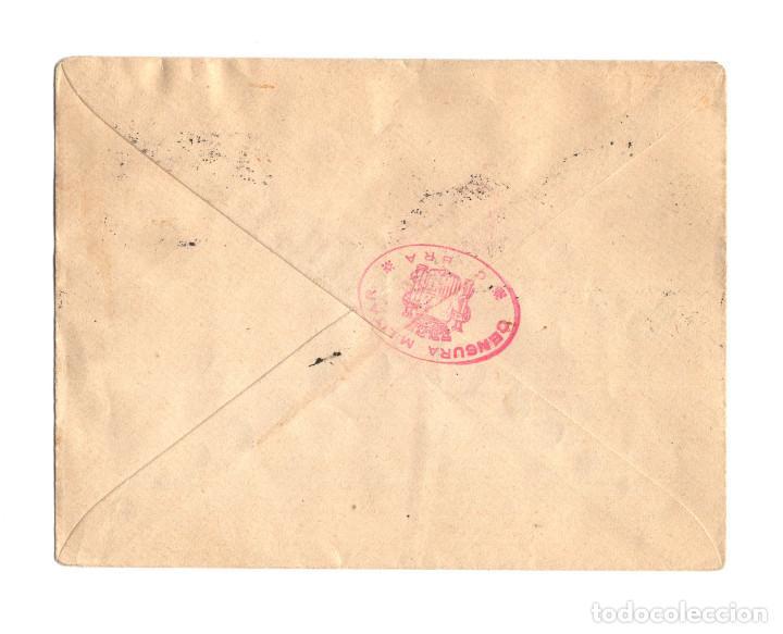 Sellos: RARO SELLO CARTERÍA. CABRA.(CÓRDOBA). FRANQUEADO CON BLOQUE DE 4 SELLOS FISCALES 15 CTS. 1937. - Foto 2 - 235121095