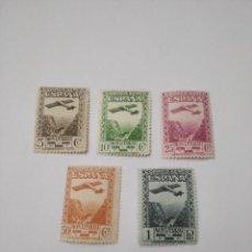 Sellos: EDIFIL 650/654**. MNH. CENTENARIO MONSERRAT AÉREO.1931.GOMA ORIGINAL , SIN FIJASELLOS.MUY .BONITO CO. Lote 235393485