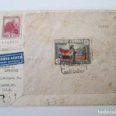 Selos: ER * CARTA CENSURA REPUBLICA ESPAÑOLA * BARCELONA-USA. Lote 235608805