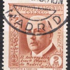 Sellos: [A6289] ESPAÑA 1936; ASOC. DE LA PRENSA DE MADRID, 2 C. (U). Lote 235614670
