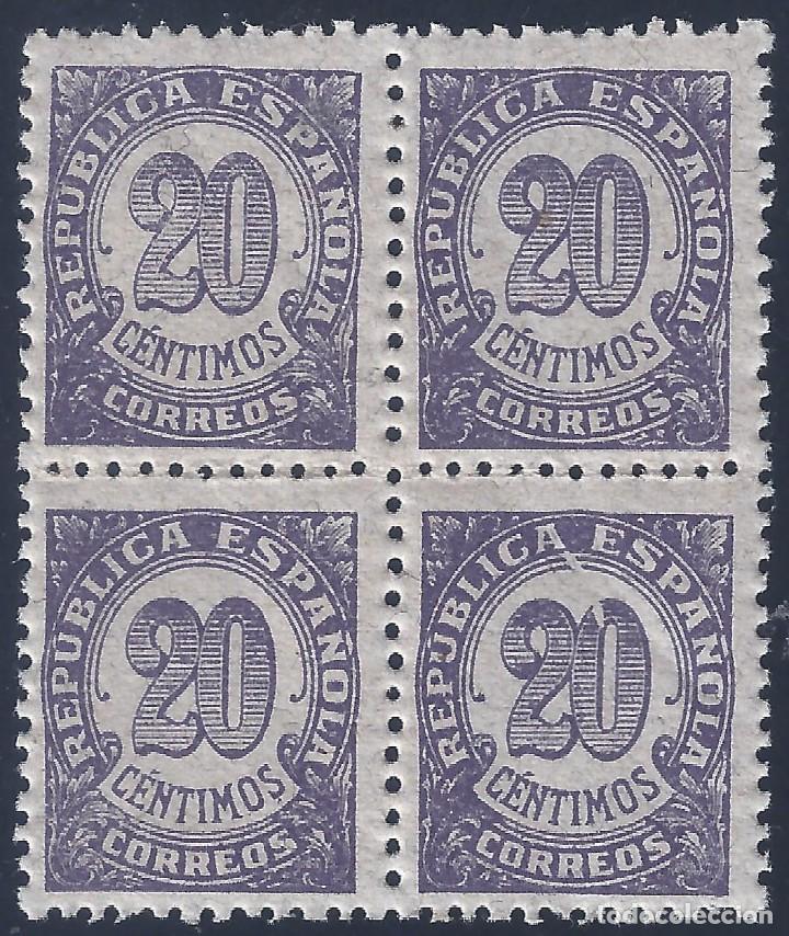 EDIFIL 748 CIFRAS 1938 (VARIEDAD...MANCHA BLANCA DESDE LA A DE REPÚBLICA HASTA EL CERO). MNH ** (Sellos - España - II República de 1.931 a 1.939 - Nuevos)