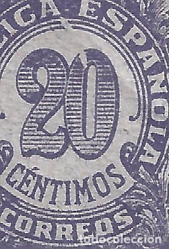 Sellos: EDIFIL 748 CIFRAS 1938 (VARIEDAD...MANCHA BLANCA DESDE LA A DE REPÚBLICA HASTA EL CERO). MNH ** - Foto 2 - 236078075