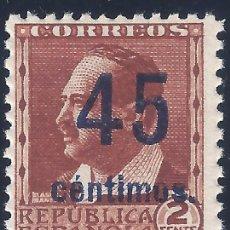 Sellos: EDIFIL NE 28 1938. V. BLASCO IBÁÑEZ. NO EXPENDIDO. VALOR CATÁLOGO: 120 €. MNH **. Lote 236239235