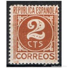 Sellos: [B0010] ESPAÑA 1936, NÚMEROS, 2C. (MH). Lote 236281830