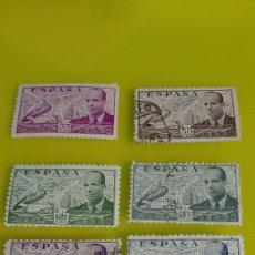 Sellos: ESPAÑA 1941 II REPÚBLICA JUAN DE LA CIERVA AUTIGIRO EDIFIL 952 843 944 945 946 947 USADOS. Lote 236297315