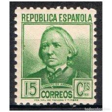 Sellos: [B0016] ESPAÑA 1937; PERSONAJES, 15C. (MNH). Lote 236478920