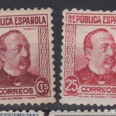 Sellos: 1933 - 1935 PERSONAJES REPUBLICA ESPAÑOLA II EDIFIL 685* Y 685*CC. Lote 236522810