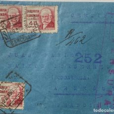 Sellos: ESPAÑA, CARTA CIRCULADA EN EL AÑO 1938. Lote 236527785