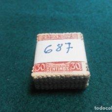 Sellos: PASTILLA DE 100 SELLOS USADOS PRIMER CENTENARIO. Lote 236529380