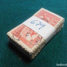 Sellos: PASTILLA DE 100 SELLOS USADOS PRIMER CENTENARIO. Lote 236529520
