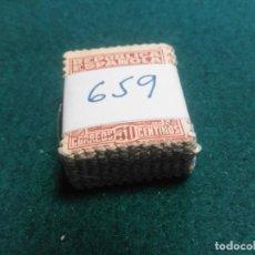 Sellos: PASTILLA DE 100 SELLOS USADOS PRIMER CENTENARIO. Lote 236529610