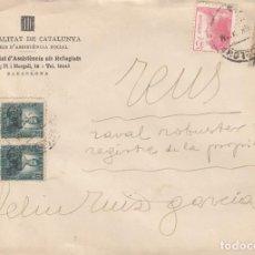 Sellos: CARTA GUERRA CIVIL - GENERALITAT -COMISSARIAT D'ASSISTENCIA ALS REFUGIATS. Lote 236753515