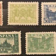 Sellos: EDIFIL 802 810 V. CAT 56 SELLOS NUEVOS ESPAÑA AÑO 1936 1937 JUNTA DEFENSA NACIONAL. Lote 236780745