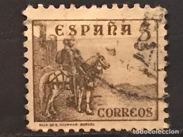 EDIFIL 816 SELLOS USADOS ESPAÑA AÑO 1937 1940 CIFRAS CID E ISABEL II (Sellos - España - II República de 1.931 a 1.939 - Usados)