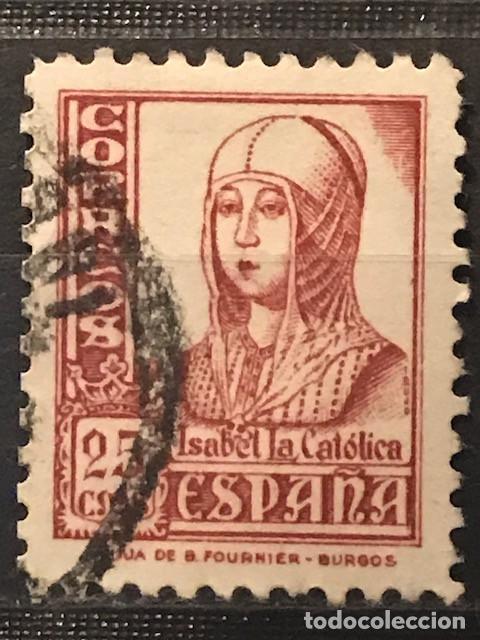 EDIFIL 822 SELLOS USADOS ESPAÑA AÑO 1937 1940 CIFRAS CID E ISABEL II (Sellos - España - II República de 1.931 a 1.939 - Usados)