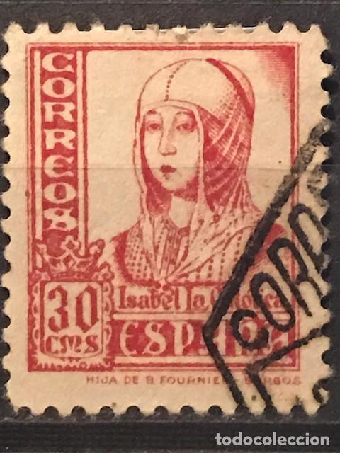 EDIFIL 823 SELLOS USADOS ESPAÑA AÑO 1937 1940 CIFRAS CID E ISABEL II (Sellos - España - II República de 1.931 a 1.939 - Usados)