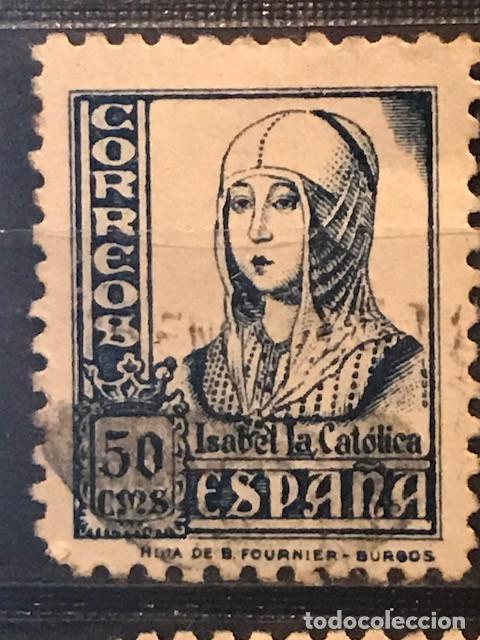 EDIFIL 825 SELLOS USADOS ESPAÑA AÑO 1937 1940 CIFRAS CID E ISABEL II (Sellos - España - II República de 1.931 a 1.939 - Usados)
