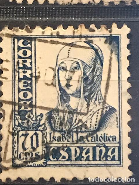 EDIFIL 827 SELLOS USADOS ESPAÑA AÑO 1937 1940 CIFRAS CID E ISABEL II (Sellos - España - II República de 1.931 a 1.939 - Usados)