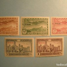 Sellos: ESPAÑA 1931 - III CONGRESO UNIÓN POSTAL PANAMERICANA - EDIFIL 630/634 - OFICIAL - NUEVOS.. Lote 236875615