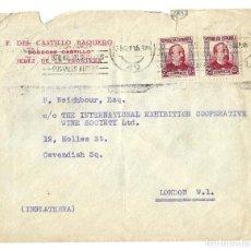 Sellos: 1935 CARTA SOBRE SELLO REPÚBLICA JEREZ DE LA FRONTERA (CÁDIZ) A INGLATERRA. Lote 237214135